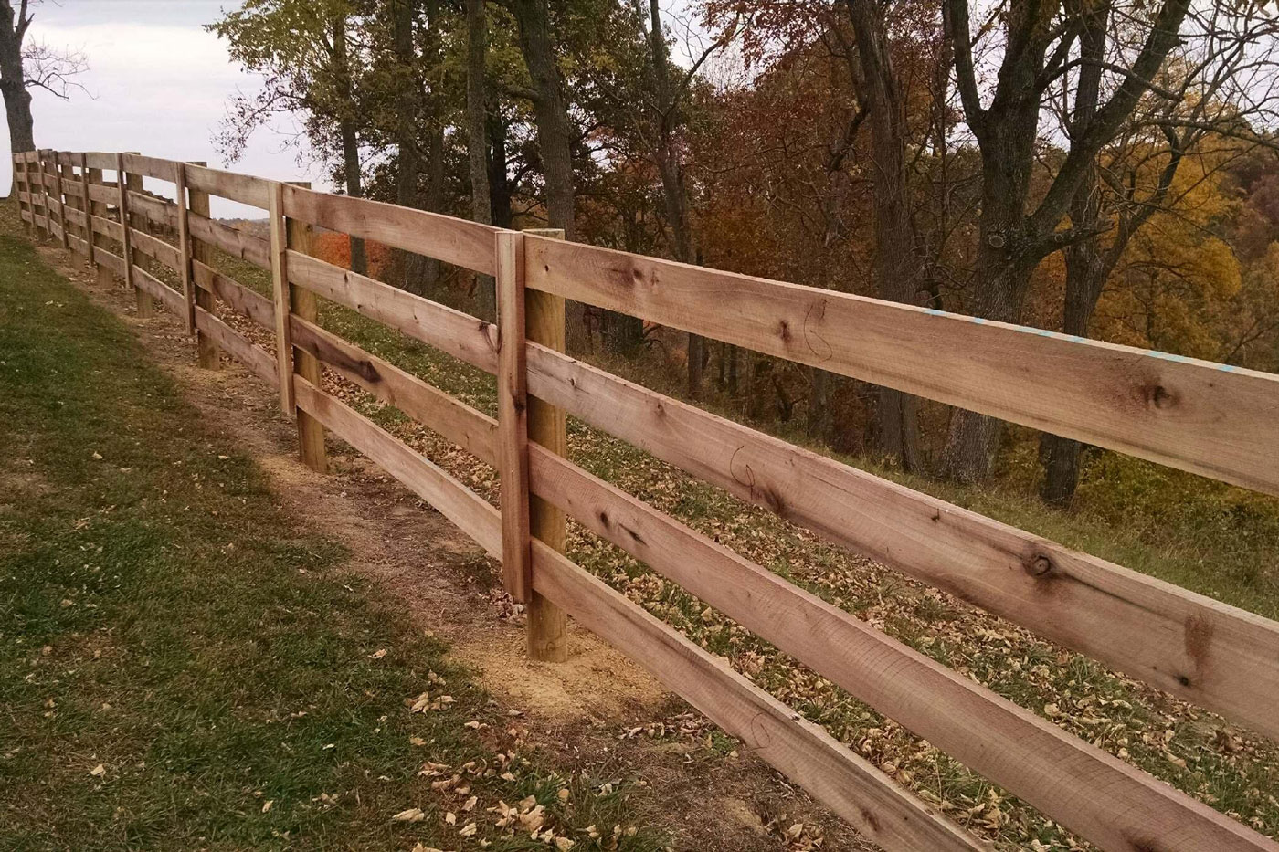 Strauss Fence Company 3 And 4 Board Agricultural Farm Fence
