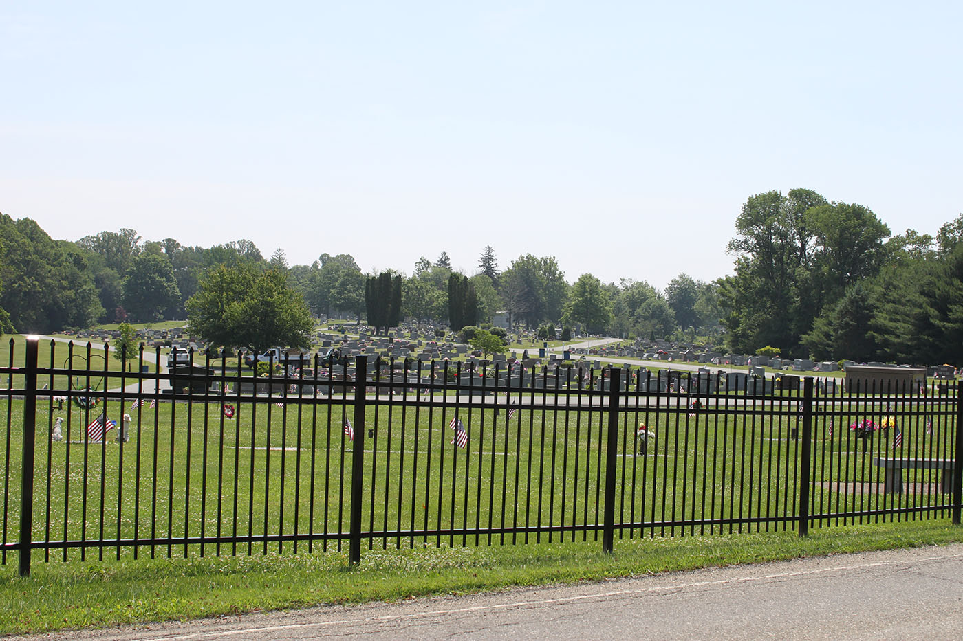 Cambridge Cemetery Steel Picket Fence Strauss Fence New Concord Ohio