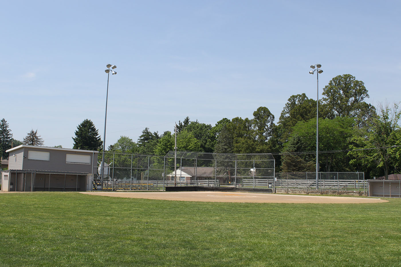 Cambridge City Park BaseBall Field Fence Backstop Strauss Fence New Concord Ohio