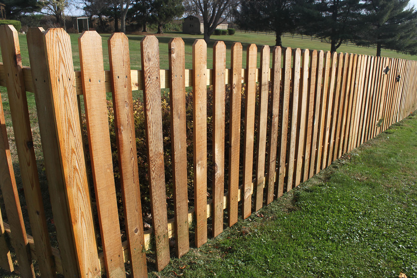 Cedar Wood Picket Fence Custom Built Pool Fence Safety Enclosure Strauss Fence