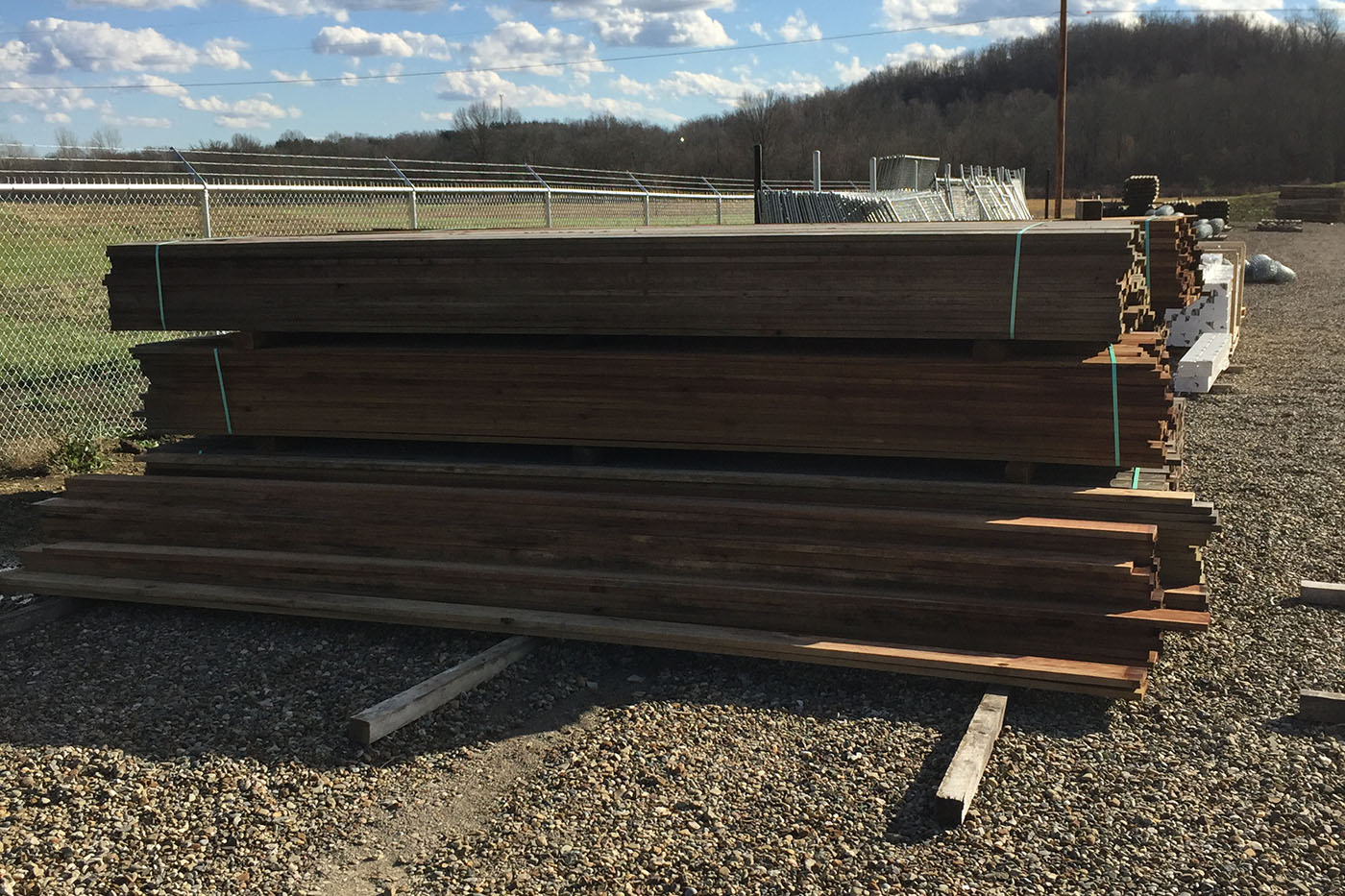 Wood Fence Posts Southern Yellow Pine Treated Strauss Fence Zanesville Ohio