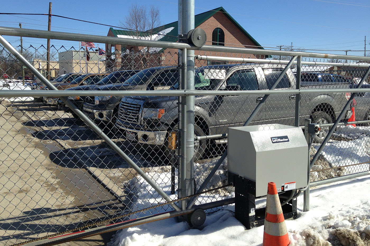 Power Roller Gate Producers Security Gate Strauss Fence New Concord Ohio