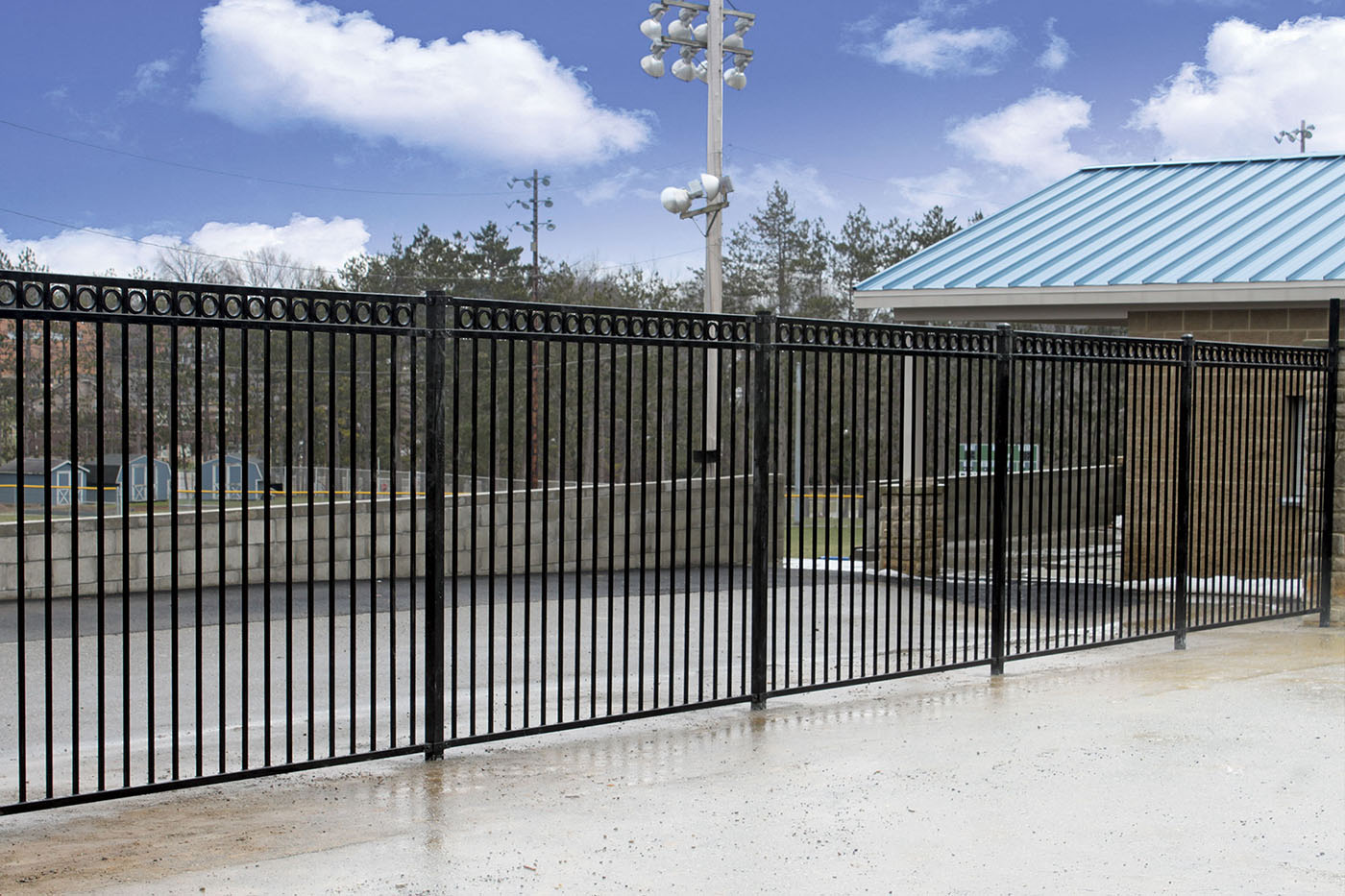 commericial insustrial chain link aluminum privacy oil-gas fence sports fencing baseball fencing